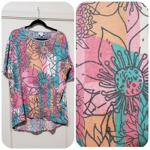 Irma top S lularoe colorful  floral